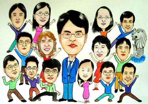 Caricature in Group