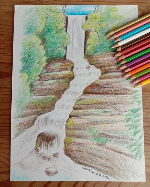 Colour Pencils - Waterfall