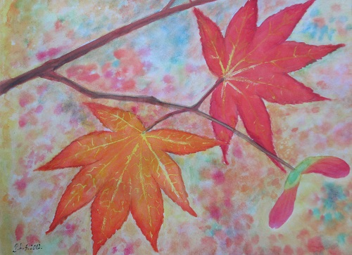 Water Colour Maple Leaves