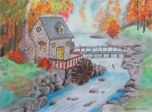 Water Colour River House