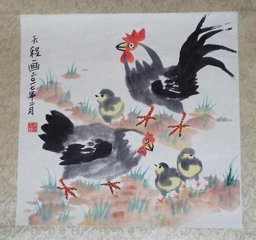 Rooster Chinese Brush Painting