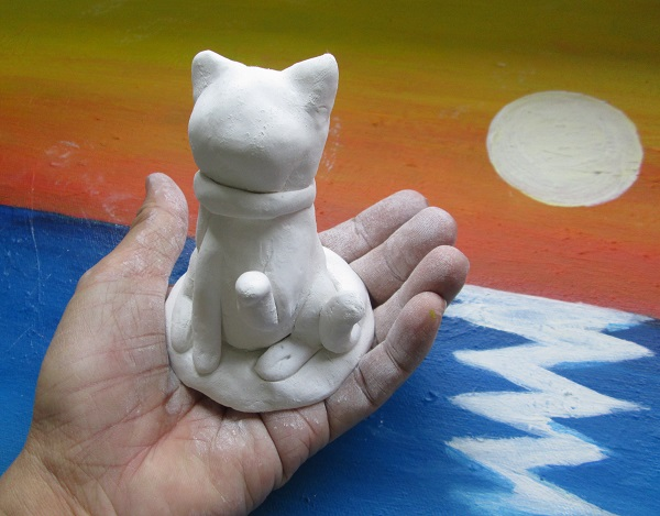 Clay model Lucky cat